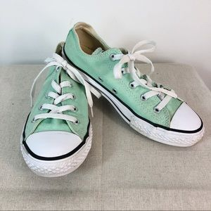 Converse All Star Sneakers Mint Green Tennis Shoes